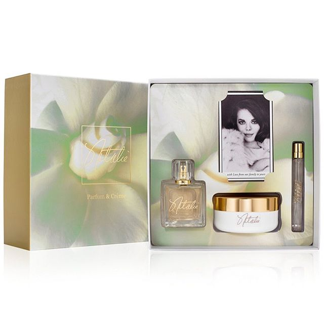 We are so excited to announce that this holiday season, @macys is offering an exclusive Natalie Fragrance Holiday Gift set.  With the original 3.4 oz Natalie Eau de Parfum bottle, a refillable purse spray, and a luxurious body crème, Natalie Fragrance makes the perfect gift! We have also included a personal message and a double-sided photo card featuring two iconic images of Natalie. Orders can be made online at Macys.com