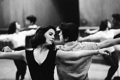 My mom during rehearsal for her classic film, West Side Story