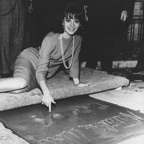 On this day, 55 years ago, my mom made her mark at the famous Grauman's Chinese Theatre in Hollywood, California ️