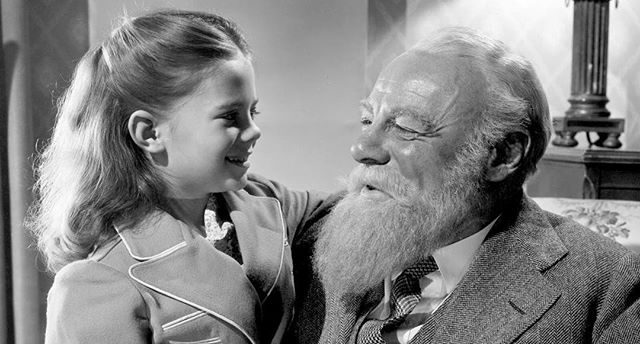 One of my favorite movies to watch during the holidays is Miracle on 34th Street. I love watching my mom as a little girl!