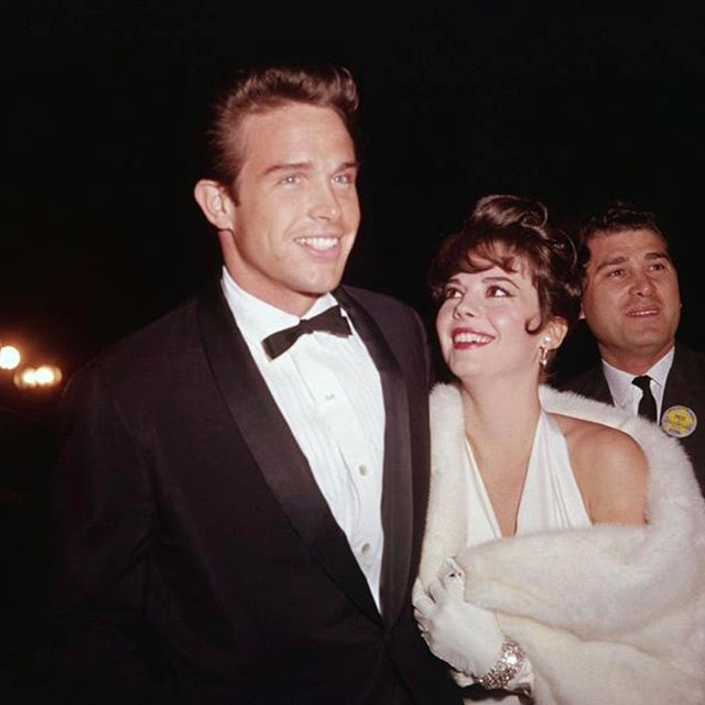 Natalie alongside co-star Warren Beatty in Santa Monica at the 1962 Academy Awards.