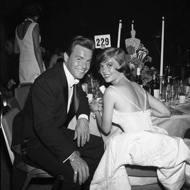 Natalie and Robert attending the 32nd annual Academy Awards in 1960.