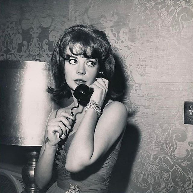 My mom at the Screen Producers Guild annual dinner in the 1960's. She absolutely LOVED chatting on the phone!
