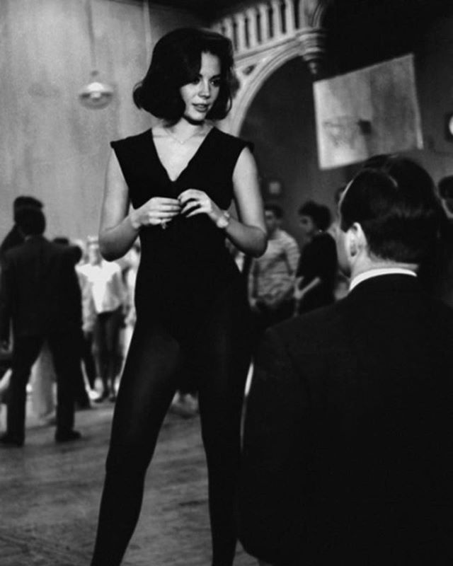 Natalie at a dance rehearsal for West Side Story