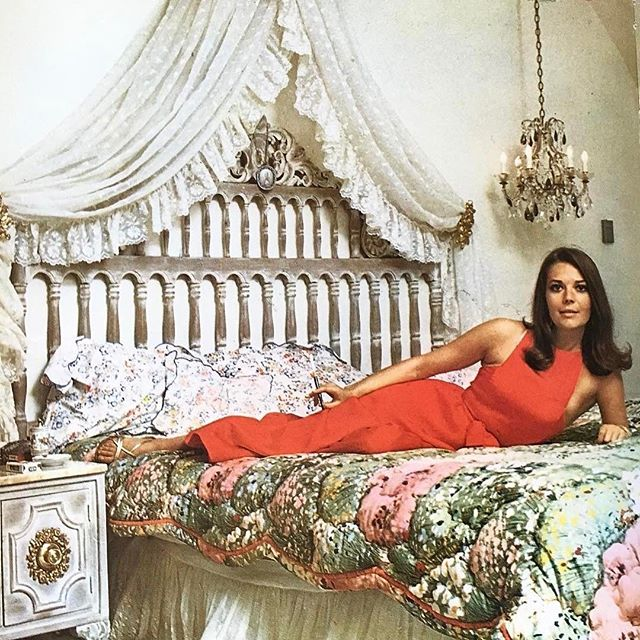 "Natalie in her Beverly Hills bedroom shot by Eliot Elisofon from ""Hollywood Life."""
