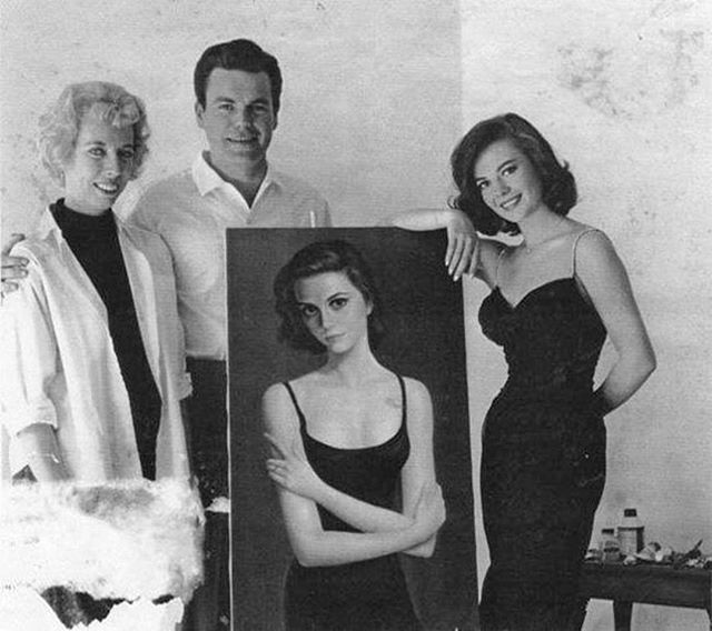 Natalie with her darling Keane portrait
