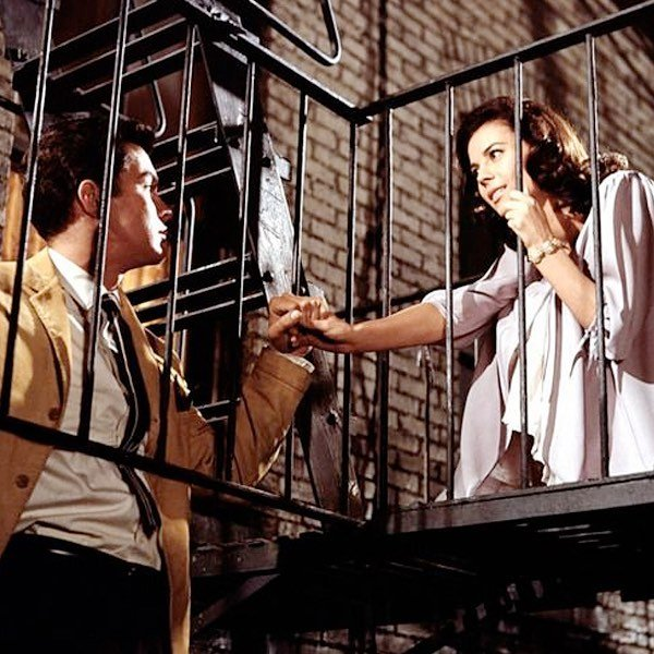 Richard Beymer and Natalie Wood in West Side Story.⠀