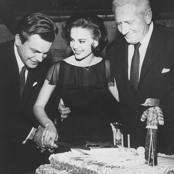 Happy birthday to my mom! This was my mom's 21st birthday with Robert Wagner and Spencer Tracy.  In honor of her birthday we're offering 20% off ALL Natalie Fragrance products. Use code JULY20 at checkout! Offer valid July 20-22.  nataliefragrance.com⠀