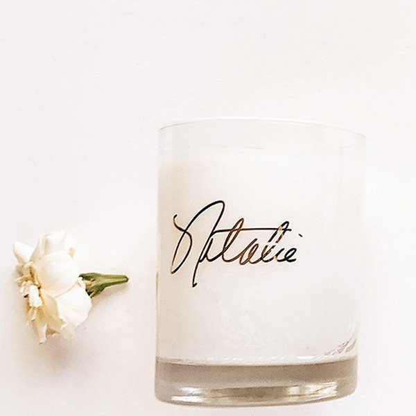 Our signature candle highlights hints of narcissus with harmonies of fresh vanilla, soft woods and skin musk. nataliefragrance.com⠀