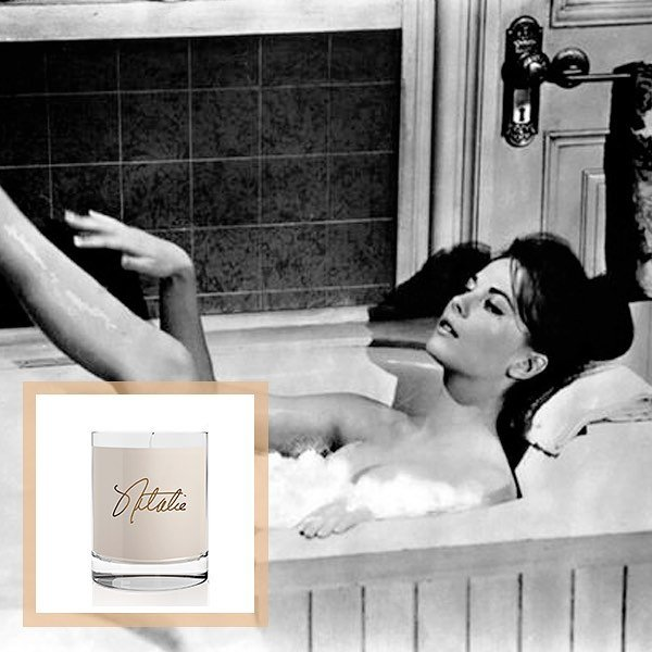 The Natalie Scented Candle will make your bath even more relaxing.  nataliefragrance.com ⠀