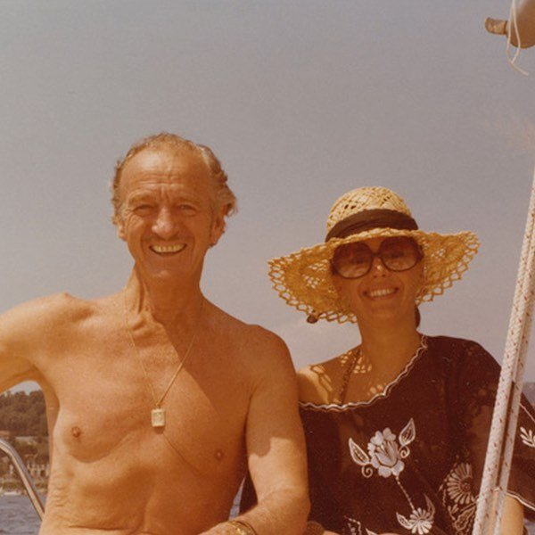 My mom and her great friend David Niven. Hope everyone is enjoying the long weekend! ⠀