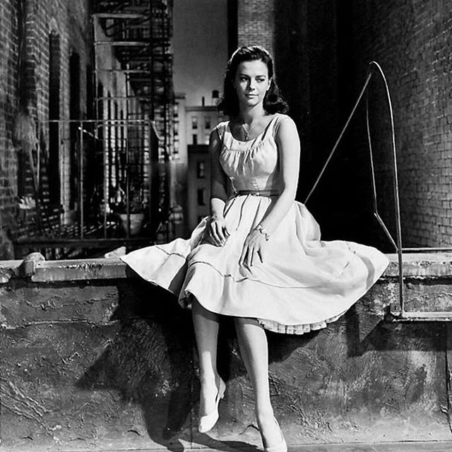 My mom on the set of the classic film, West Side Story.