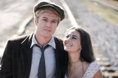 "Natalie Wood and ""This Property is Condemnded"" co-star Robert Redford."