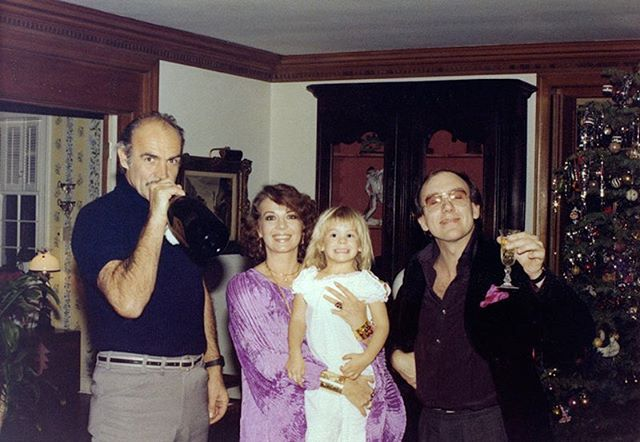 Sean Connery, my mom, Courtney, and Mart Crowley circa 1978. Wishing you all a happy and healthy 2017