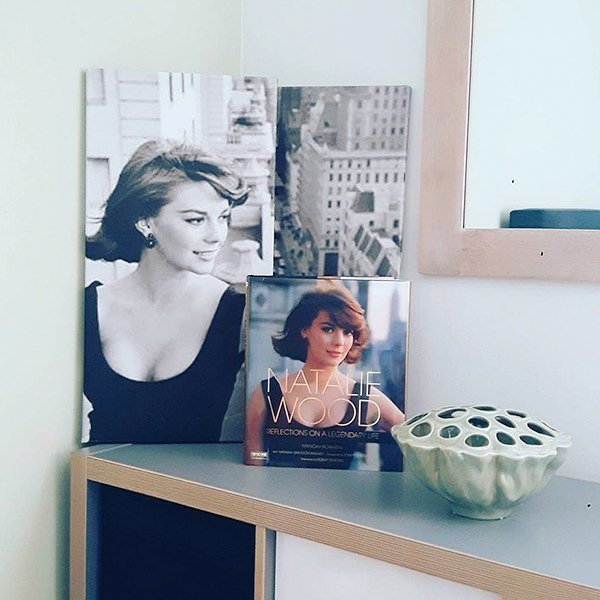 A Natalie corner  Get your Natalie Wood coffee table book at nataliefragrance.com : @nikkivanhamond⠀